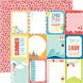 Echo Park A Perfect Summer 3x4 Journaling Cards 12x12 Scrapbook Paper