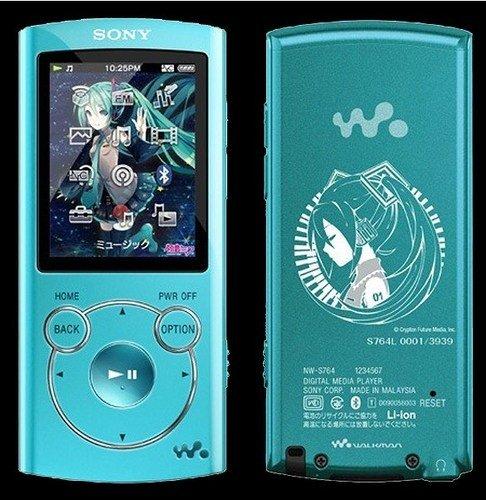 "SONY ""ウォークマン""Sシリーズ 初音ミク生誕5周年記念モデル NW-S764 ブルー"