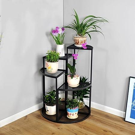 Combinación de racks de flores multicapa/llamativo/maceta/iron art/balcón living comedor piso maceta/cuatro conjuntos de-A