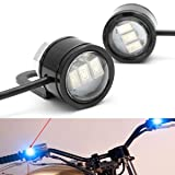 Winnerbe 2pcs LED Eagle Eye Lamp Strobe Flash DRL Bicycle Motorcycle Car ATV Light Blue (Color: Blue)