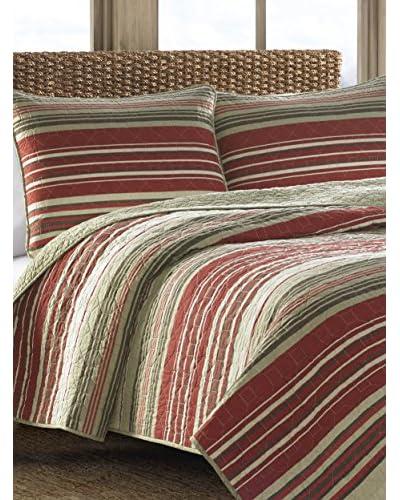 Eddie Bauer Yakima Valley Stripe Quilt Set  [Red]
