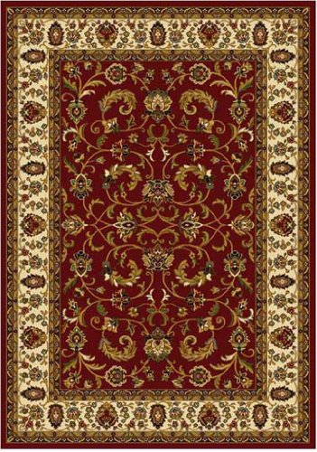 Traditional Area Rug, Home Dynamix Royalty 8'x11' Red Ivory.