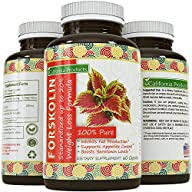 100% Pure Forskolin Extract 60 Capsules – High Quality Weight Loss Supplement for Women & Men – Most…