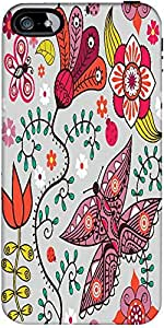 Snoogg Seamless Pattern With Butterflies And Flowers Designer Case Cover For ...