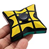 Fidget Spinner,Yamally_9R 1x3x3 Smooth Rubik's Cube Puzzle Fidget Spinner Stress Relief Toy (A) (Color: A, Tamaño: 5.5x5.5x2cm)