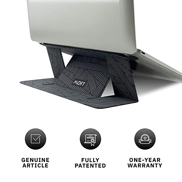 OFT Laptop Stand, Invisible Lightweight Laptop Computer Stand, Compatible with MacBook, Air, Pro, Tablets and Laptops up to 15.6, Patented Interlaced (Color: Interlaced)