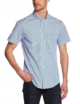 Tommy hilfiger - north stp - chemise business - coupe droite - homme - bleu (shirt blue/classic white) - Large