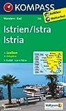 Istrien / Istra / Istria: Wanderkarte mit Kurzführer, Radrouten und Ortsplänen. 1:75000 (KOMPASS-Wanderkarten)
