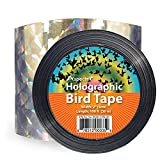 100-Foot by 2-Inch Bird Repellent Scare Tape Holographic Bird Scare Ribbon, Double Side Bird Deterrent
