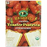 Nature's Path Organic Toaster Pastries, Frosted Berry Strawberry, 12-Count Boxes (Pack of 6) ~ Nature's Path