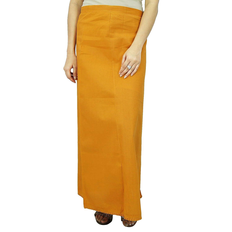Inskirt Futter für Sari Ethnische indischen Fertig Solide Baumwolle Petticoat jetzt kaufen