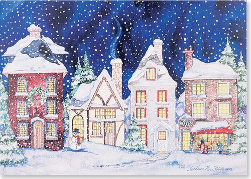 Snowy Village Holiday Boxed Cards Christmas Cards Holiday Cards Greeting Cards