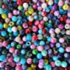 Pretty Pebbles Beads - 100 Opaque Glass Beads 6mm round Colour Mix