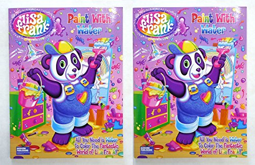 Lisa Frank Paint with Water Book 16 Tear Out Pages (2 Pack)