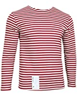 Russian Special Forces Telnyashka T-Shirt - Red Stripes Long Sleeve