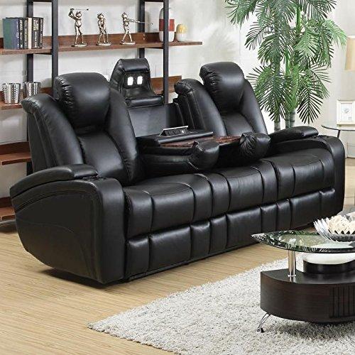 Coaster-601741P-Home-Furnishings-Power-Sofa-Black