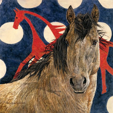 Cheap SunsOut Judy Larsen The Horse Tipi 500pc Jigsaw Puzzle (B001YJZK5Q)