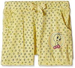 Tweety Girls' Shorts (TW0ESH1562_Buttercup Yellow_4 - 5 years)