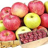 国華園 りんご 青森南部産 おたのしみ木箱 りんご・赤 10kg 1組