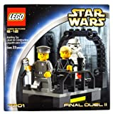 Lego Year 2002 Star Wars Series Movie Scene Set # 7201 - FINAL DUEL II with Walkway on the Second Death Star Plus Luke Skywalker as Jedi Knight, Imperial Officer and Stormtrooper Minifigures (Total Pieces: 23)