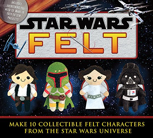 Star Wars Felt - From Han Solo to Boba Fett, you can create these ten adorable Star Wars figures from a galaxy far, far away! The 48-page instruction book has step-by-step directions and color photos to help you advance from padawan crafter to Jedi felt master. The kit includes everything you need to make all ten characters, including multiple colors of felt, stuffing, a needle, embroidery floss, and die-cut templates. May the felt be with you!