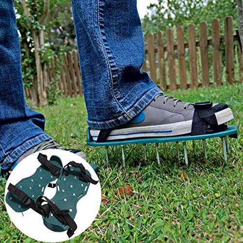 Gardening Grass Lawn Plastic Aerating Shoes Greensward Spikes Loosening Equipment (30 Gallon Smart Pot With Handles compare prices)