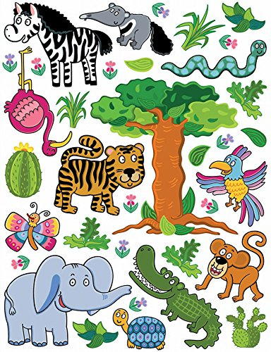 Brewster Spirit 350-0206 Peel & Stick Jungle European Wall Decals