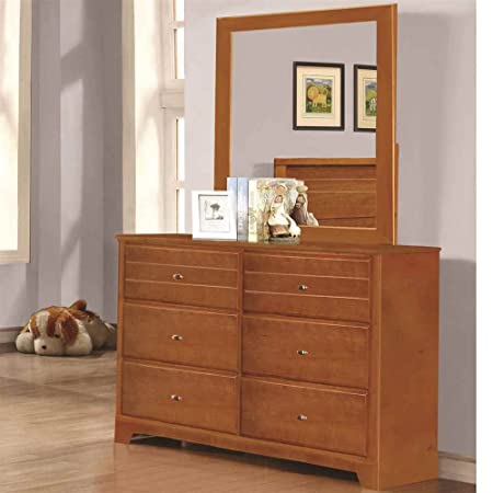 6-Drawer Dresser in Honey Oak Finish