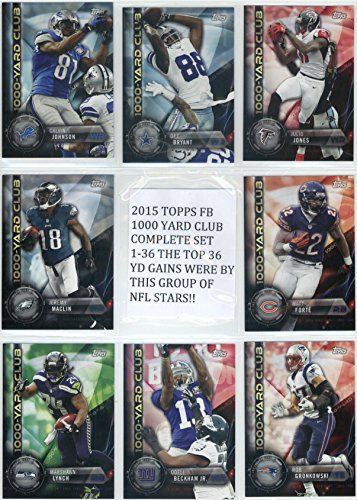 2015 Topps Football 1000 Yard Club Complete Set 1-36-The top 36 players in terms of yards gained over the 2014 Season make up this set of NFL Superstars. (1000 Nfl Cards compare prices)