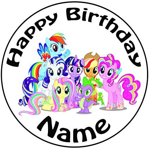 """Personalizzato My Little Pony-Topper per torta a pre-cut rotondo 8""""(20cm) glassa decorazione"""