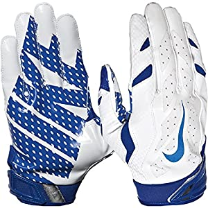 Nike Vapor Jet 3.0 Advanced Skill Position / Receiver Gloves (White/Game Royal, X-Large)