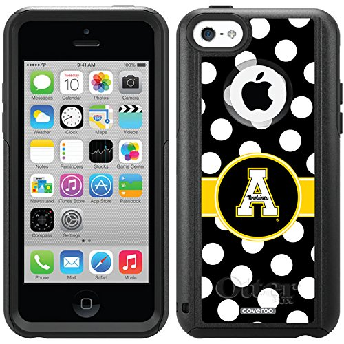 Appalachian State Polka Dots Design On A Black Otterbox® Commuter Series® Case For Iphone 5C