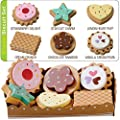 Wooden Toy Biscuits With Selection Card and Sturdy Cardboard Serving Tray