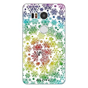 Mozine Snowflake pattern Printed Mobile Back Cover For Google Nexus 5x