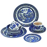 Churchill China Blue Willow 20 Piece Dinner Set