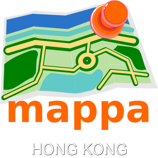 Hong Kong, China, Offline mappa Map - Hong Kong mappa MAPPA Offline