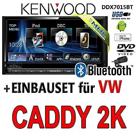 Volkswagen caddy 2-k kenwood dDX7015BT 2-dIN multimédia hDMI/mHL dVD bluetooth uSB avec kit de montage
