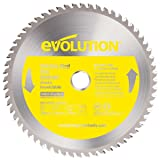 Evolution Power Tools 230BLADESS Stainless Steel Cutting Saw Blade, 9-Inch x 60-Tooth (Color: Yellow, Tamaño: 9 Inch)