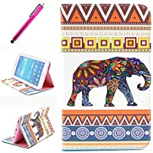buy Galaxy Tab 4 10.1 Case,Yummi Colorful Side Flip Pu Leather Wallet Case New Stand Cover Skin With Card Slots And Magnetic Flip Closure For Samsung Galaxy Tab 4 10.1 Inch T530+ One Free Stylus [Elephant]