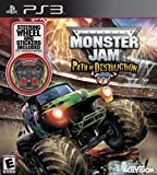 Monster Jam 3: Path of Destruction with Grave Digger Steering Wheel Peripheral - Playstation 3