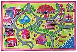 J & M Home Fashions Kids Play Rug Educational Rug, Town Fun, 40\