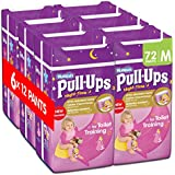 Huggies Pull-Ups Night-Time for Girls, Medium, 12 Pants for Toilet Training (Pack of 6, Total 72 Pants)