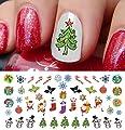 "Christmas Holiday Assortment Water Slide Nail Art Decals Set #6- Salon Quality 5.5"" X 3"" Sheet!"
