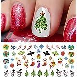 "Christmas Holiday Assortment Water Slide Nail Art Decals Set #6 Salon Quality 5.5"" X 3"" Sheet!"