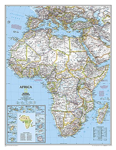 Africa Classic [Laminated] (National Geographic Reference Map) (Map Central South America compare prices)