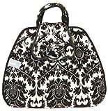 Leachco Gotta Go Plush Fashion Diaper Changer, Black/White Dynasty