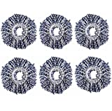 #2: Royal Export Microfiber Spin Mop Refill (White, Pack of 6)