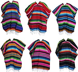 Amazon.com: Del Mex (TM) Mexican Serape Poncho Pancho Adult Costume