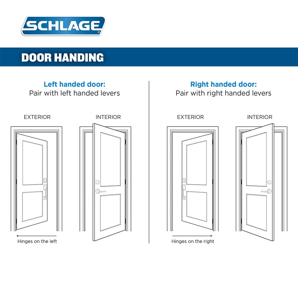 Schlage Fe285 Cam 716 Acc Rh Camelot Front Entry Handleset