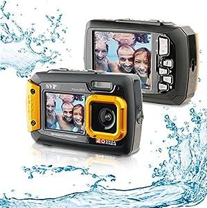 20MP Waterproof ACQUA 8800 Shockproof UnderWater Digital Camera Video recorder (Orange) with 16GB card By SVP
